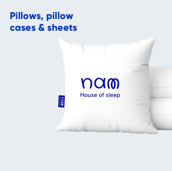 Pillows, pillow cases & sheets